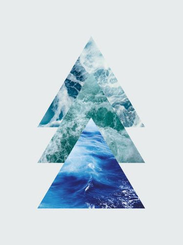 Canvas Ocean Triangles