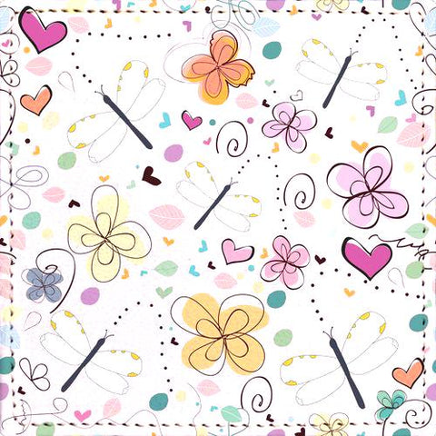 Posavaso Abstract decorative summer doodle flower