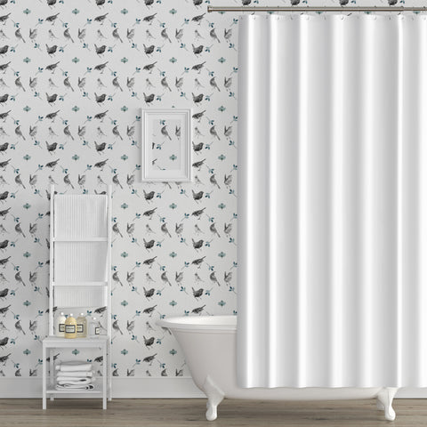 Papel Mural Aves Gris