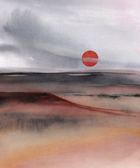 Canvas Red Sun 3