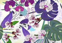Individual Orchid and Purple Green Tropical pattern