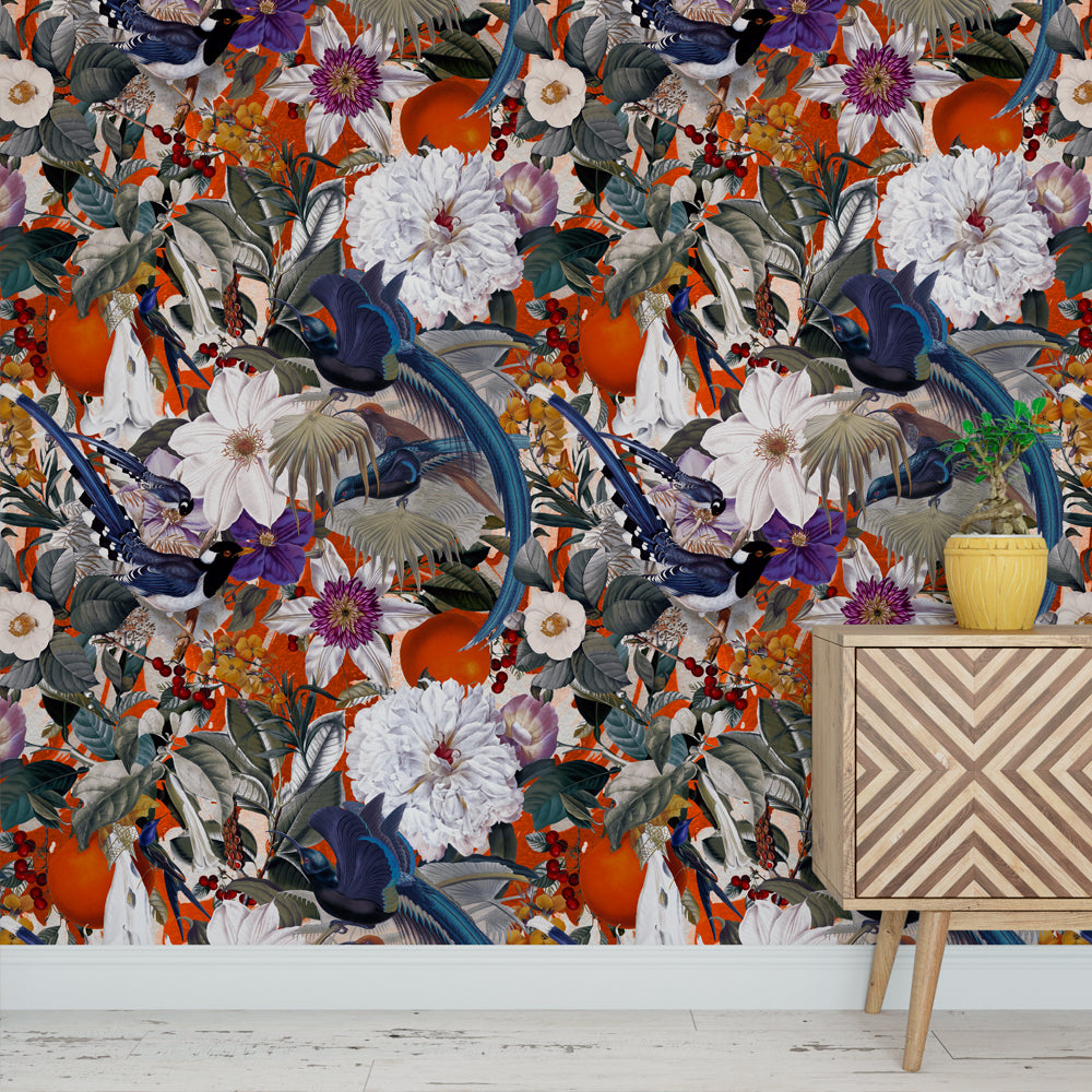 Papel Mural Floral and Birds XXVI