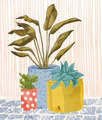 Canvas Plant pots illustration