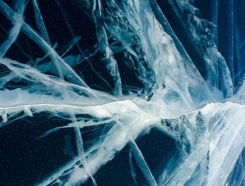 Canvas Abstract Artic Ice