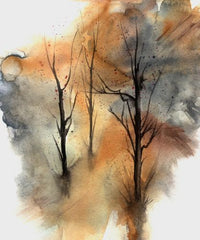 Canvas Watercolor Trees 03