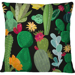 Cojín Cactus and Succulents Pattern