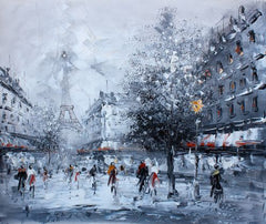 Canvas rain in paris