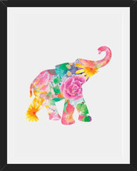Cuadro Watercolor Floral Elephant