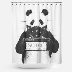 Cortina de baño Bad Panda