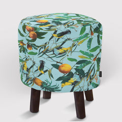 Pouf Fruit and Birds Pattern