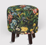 Pouf Floral and Bird VI