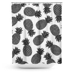Cortina de Baño Pineapple In Black