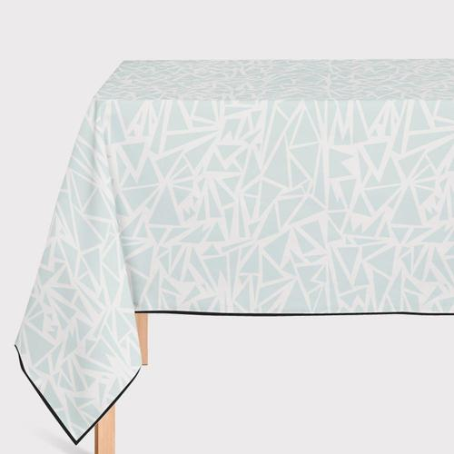 Mantel de Hule Triangle Blue