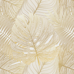 Papel Mural Golden Monstera
