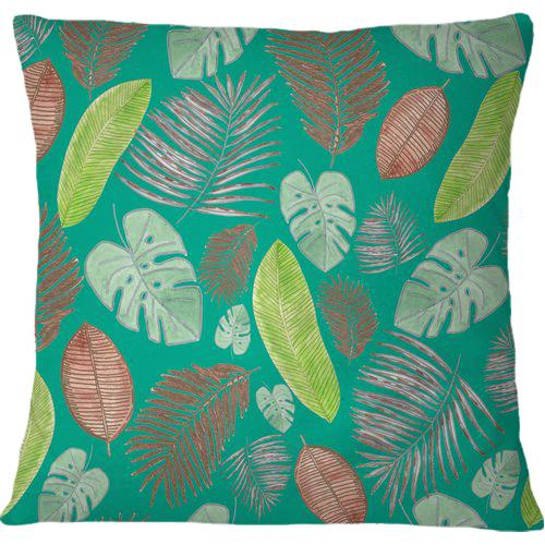 Cojín Tropical leaves soft colored watercolor