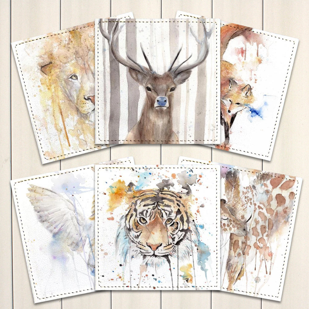 Posavasos Animales en Acuarela Collection