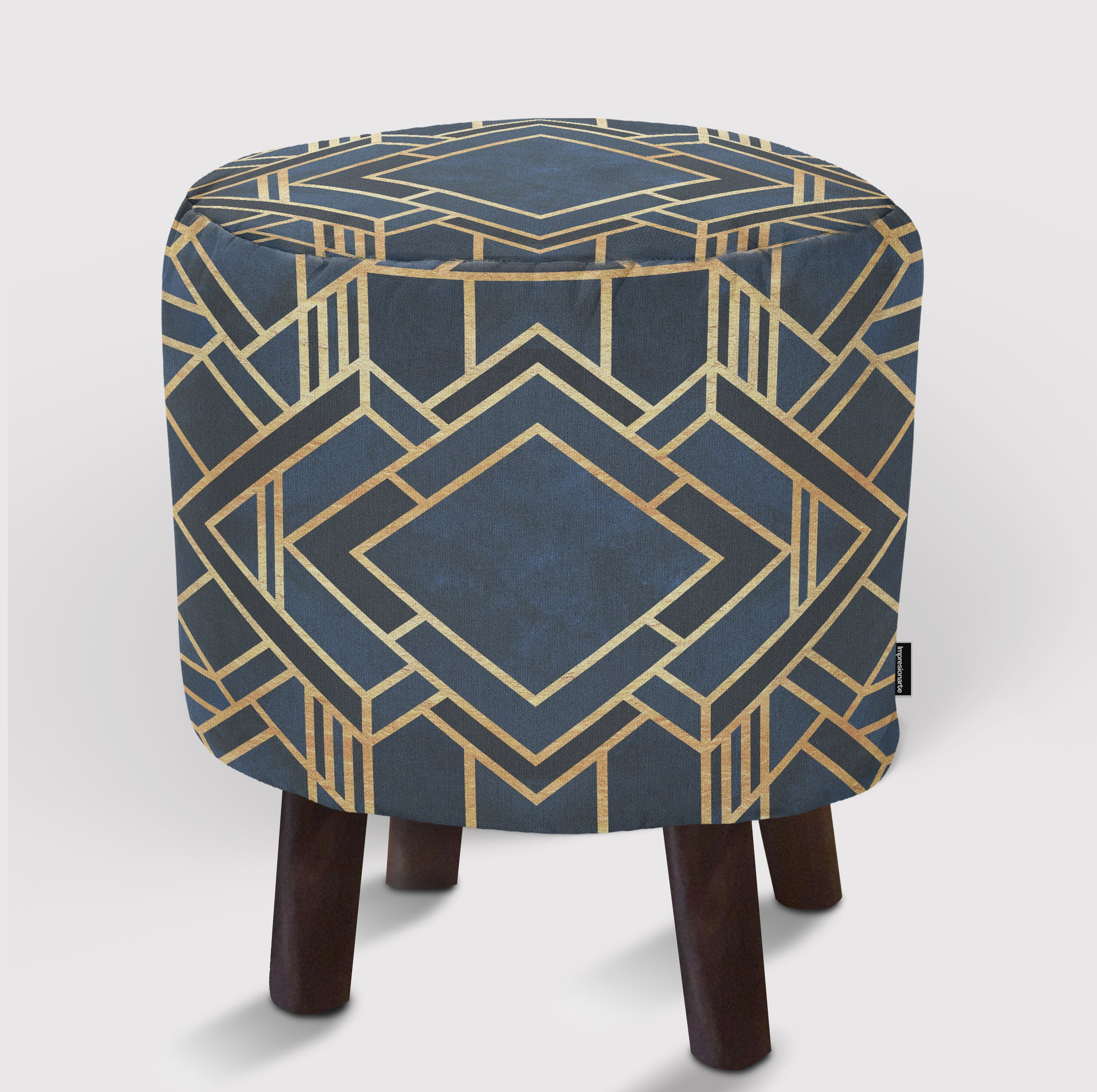 Pouf Art Deco Blue