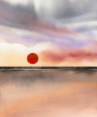 Canvas Red Sun 2