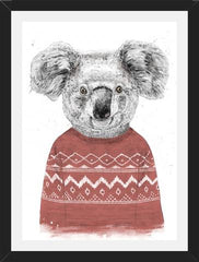 Cuadro Winter koala (red)