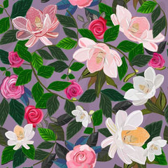 Canvas Magnolia and Roses Artistic Flowers