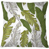 Cojín Hand drawn beautiful tropical leaves