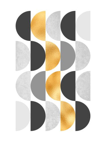 Canvas Gold Circles