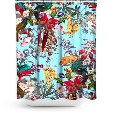 Cortina de Baño Floral and Birds XXXIV