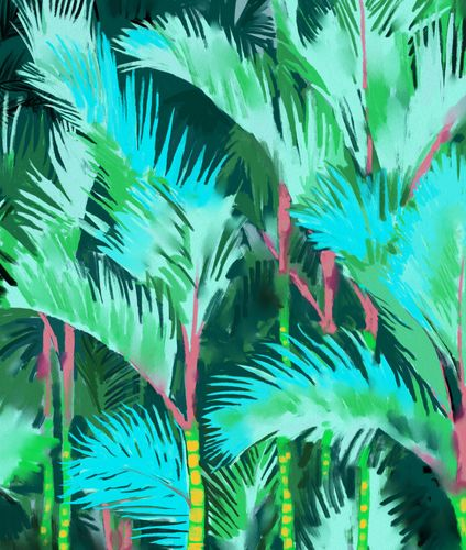 Canvas Palm Forest