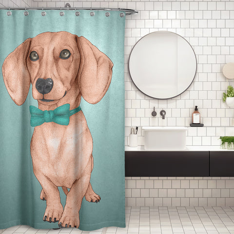 Cortina de Baño Dachshund, The Wiener Dog