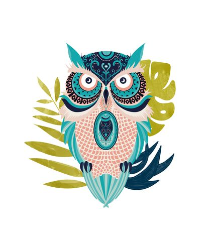 Canvas Moon Eyed Owl