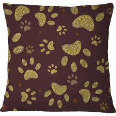 Cojín Golden Shining Paw Print With Chocolate