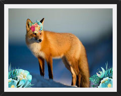 Cuadro The Fox An The Flowers