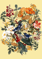 Canvas Floral and Birds XXIX