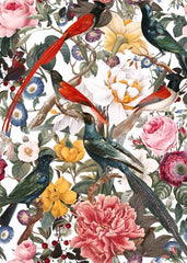 Canvas Floral and Birds XXXV