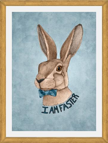 Enmarcado Mr hare is faster