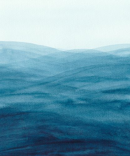 Canvas Watercolor abstract waves