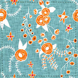 Posavaso Holiday Floral Blue Orange