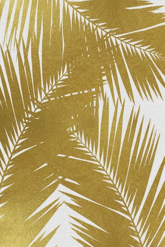 Canvas Palm Leaf Gold III