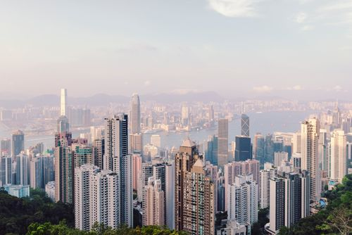 Canvas Hongkong Skyline