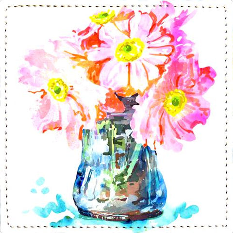 Posavaso Watercolor Flower Pot