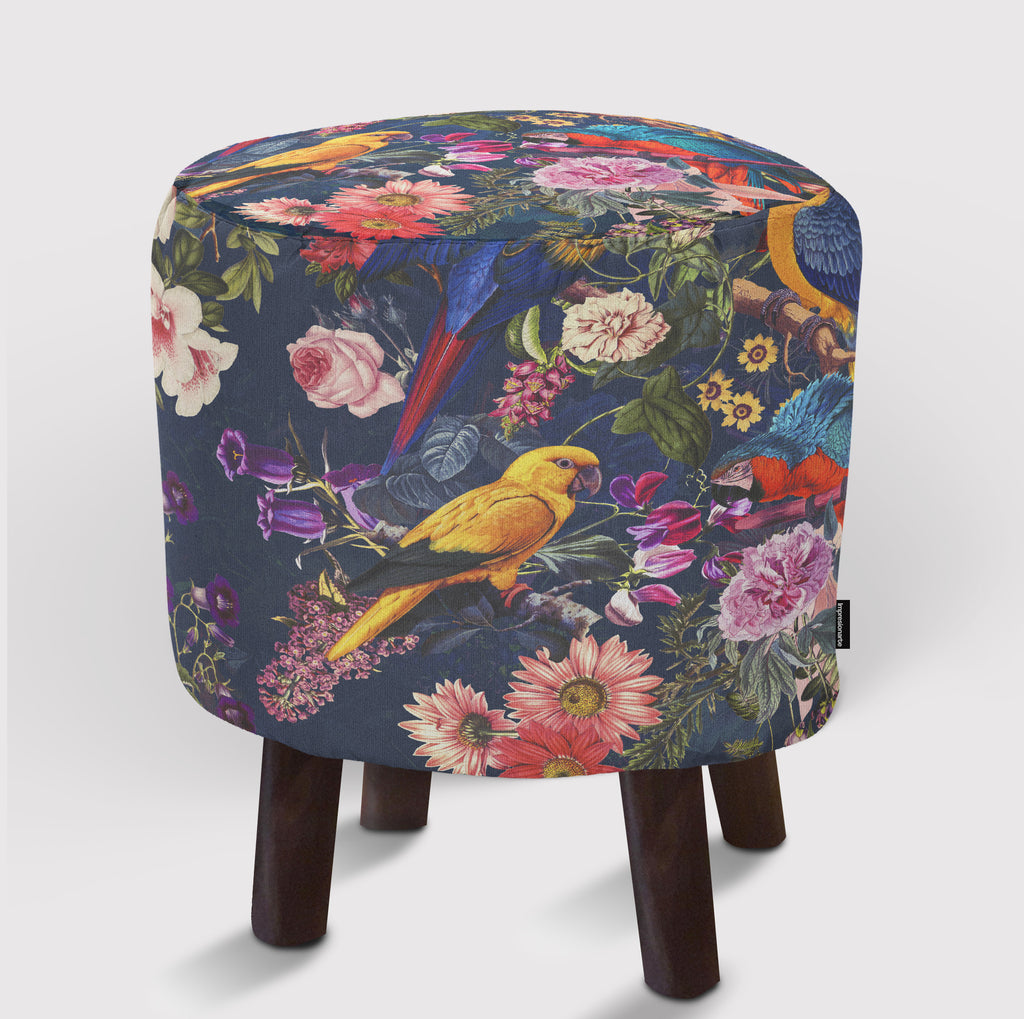 Pouf Floral and Birds XII
