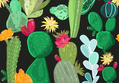 Individual Cactus and Succulents Pattern