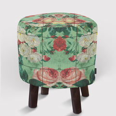 Pouf Floral and Marble
