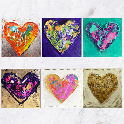 Posavasos Hearts Collection