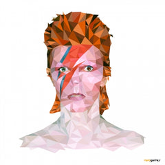 Canvas David Bowie Low Poly
