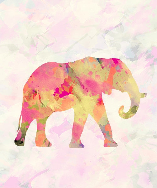 Canvas Abstract Elephant