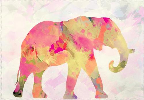 Individuales Abstract Elephant - Galeria Impresionarte