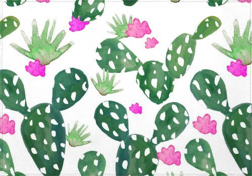 Individuales Cactus Watercolor