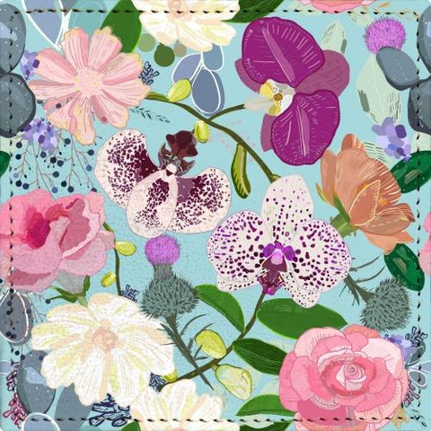 Posavaso Orchid, succulent and roses colorful pattern