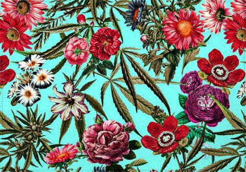 Individual Marijuana and Floral Pattern II